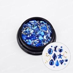 스페셜 루나 믹스스톤-블루(case) /셀프네일아트재료_(3146469)