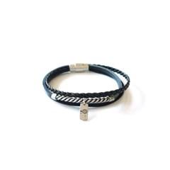 twist string men bracelet (black)