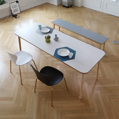스웨디시 에쉬 원목 8인 식탁 (그레이'핑크'베이지)