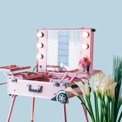 [라쏨] 리퍼브 LED 조명 수납화장대 마이퍼펙트데이 핑크