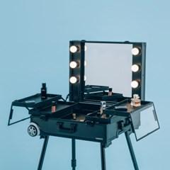 [라쏨] 리퍼브 LED 조명 수납화장대 마이퍼펙트데이 블랙