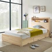 헤이디 LED 소나무원목 수납형 슈퍼싱글 침대 (매트별도_(11335372)