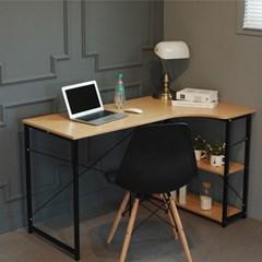 L형 조립식 철제 코너 컴퓨터 사무용 책상 체어