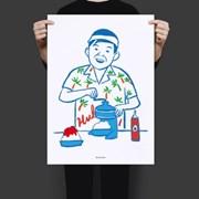 유니크 인테리어 디자인 포스터 M 소년 빙수