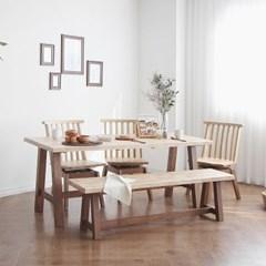 [케인] 6인용식탁/테이블 세트_(967849)