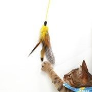 FEATHER HUNTING TOY  [NATURAL YELLOW]