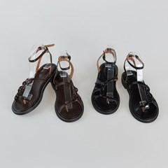 slim strap knot sandal