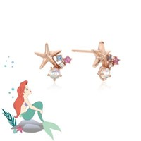 [디즈니X클루] 로맨틱 인어공주 에리얼 실버 귀걸이(CLER18679PPX)