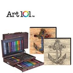 ART101-100W / 우드캔버스 17인치 앵커(사인펜 16색) 증정