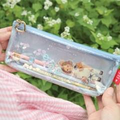 Paper doll mate glitter pouch.P_Alice