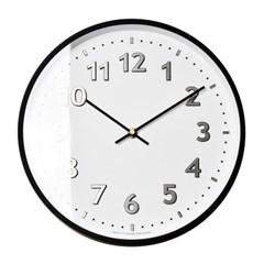 저소음 샤인넘버벽시계(실버)