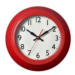 저소음 레트로스틸벽시계(RED)