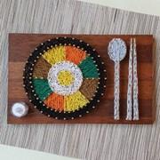 비빔밥 스트링아트(우드/LED)