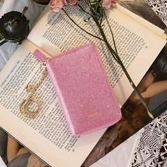 D.LAB Twinkle Zipper Wallet - Pink +키링
