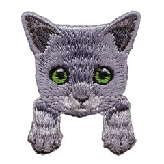 [하이데나이!] Kitten gray 벨크로 패치