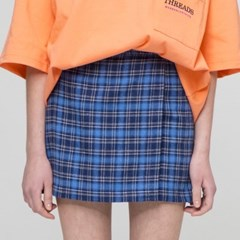 [더완더]BUCKLE SKIRT NAVY_(2032788)