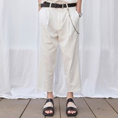 CROP WIDE TAPERED-FIT PANTS_IVORY