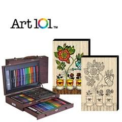 ART101-100W / 우드캔버스 10인치 꽃과 화분(사인펜 8색) 증정