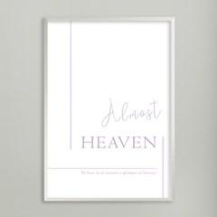 Almost heaven - A2,A3,A4 인테리어 메탈액자