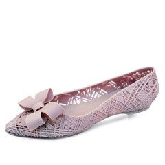 kami et muse Hidden wedge ribbon jelly flat_KM18s303