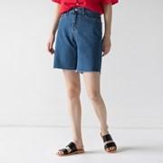 boyish 4-length denim shorts