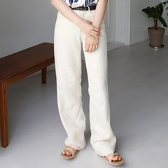 Maxi cotton cream pants