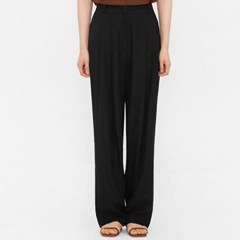 knock linen pintuck wide slacks (s, m)_(983295)