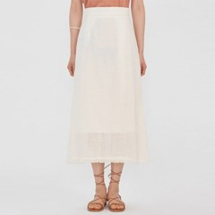 pure linen long skirt (s, m)_(983291)