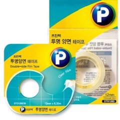 투명양면테이프(리필/ DTR126D /12mm x 6.35m/프린텍)_(13313121)