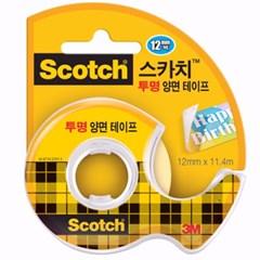스카치 투명 양면테이프(137D/12mmX11.4M/3M)_(13313104)