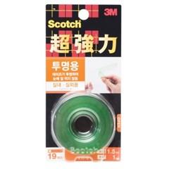 스카치양면테이프(KTD19/초강력/투명/19mmX1.5m/3M)_(13313103)