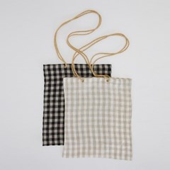 natural color mood check eco-bag