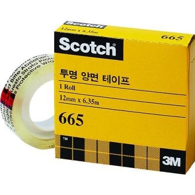 스카치 투명 양면테이프리필(665R/12mmX6.35M/3M)