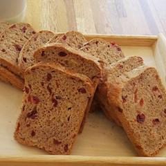 [더브레드]유기농 100%통밀빵_크랜베리 샌드위치빵 770g(2팩)