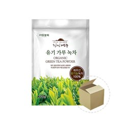 다농원 청정제주 유기 가루녹차 200g 1박스(6개)_(679890)
