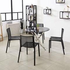 원형 테이블세트 노트북 사무실 카페 베란다 티테이블_(1665225)