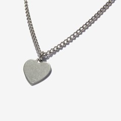 Surgical Steel Casual Heart Necklace/ 캐주얼 하트목걸이