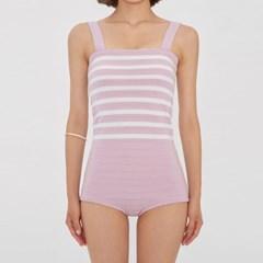 pastel stripe knit bikini_(986195)