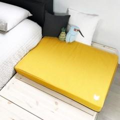 쿨쿨 아이스매트80X60-옐로우