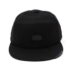 Cotton Black Metal Snapback Cap 메탈스냅백