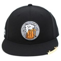 Beer or Die Snapback Cap(Black/Black) 비어스냅백