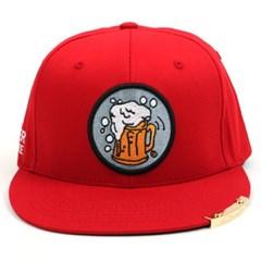 Beer or Die Snapback Cap(Red/Black) 비어스냅백