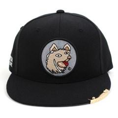 Crazy Dog Snapback Cap(Black/Black) 도그스냅백