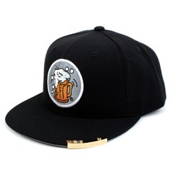 Beer or Die Snapback Cap(Black/White) 비어스냅백