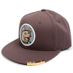 Crazy Dog Snapback Cap(Gray/White) 도그스냅백