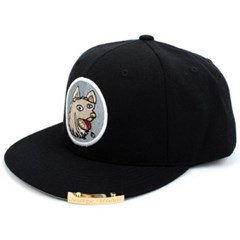 Crazy Dog Snapback Cap(Black/White) 도그스냅백