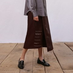 [모어올레스] Campaign silky wrap skirt - Brown_(2037530)