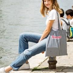 Amour bag (navy-check)