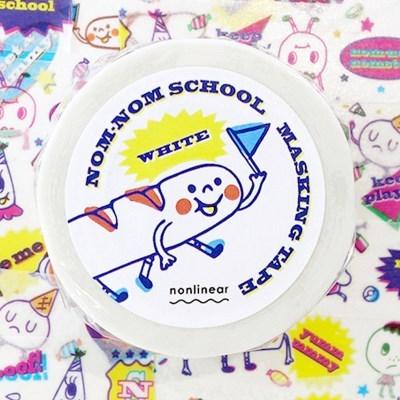 Nom-nom School Masking Tape_White