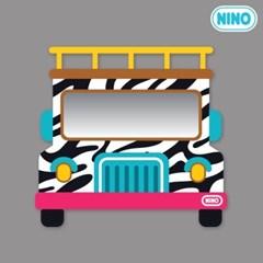 니노 미러보드 안전거울 (사파리차 정면)
